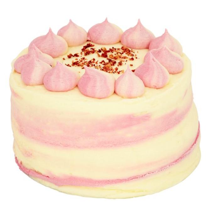 TESCO strawberry sundae cake with freeze dried strawberries