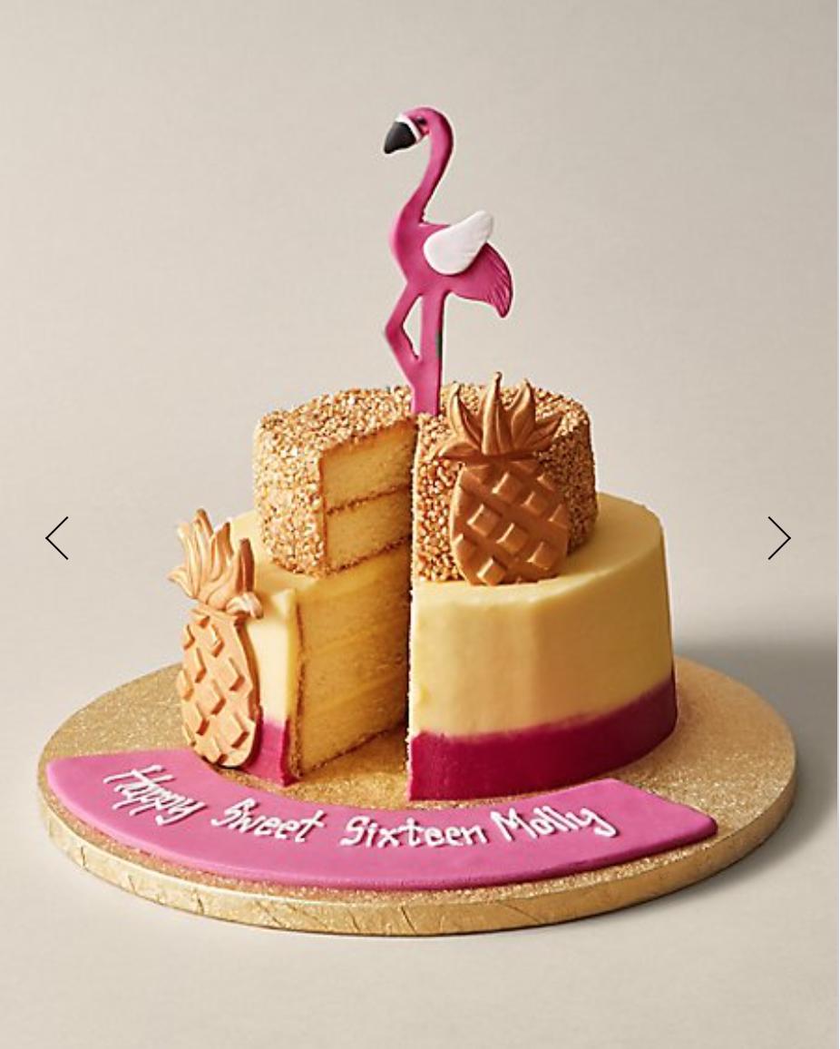 M&S pineapple and flamingo cake