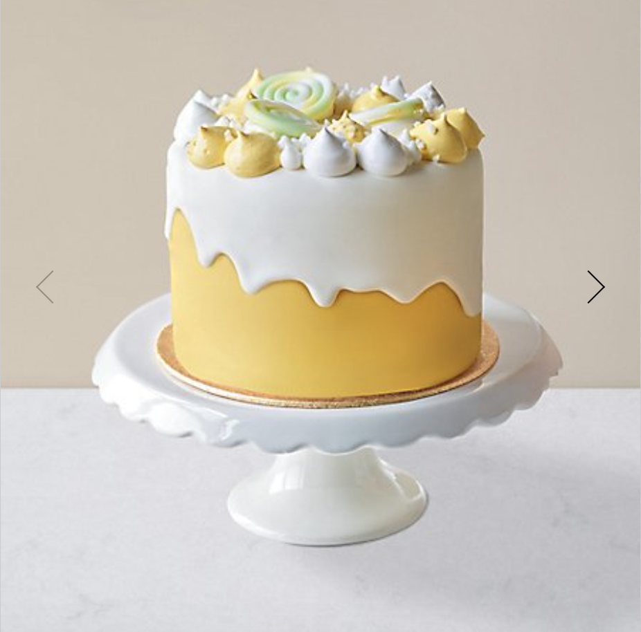 M&S unisex lemon dribble cake