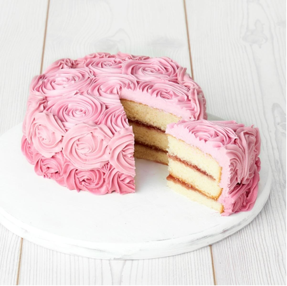 Sainsbury's rose cake