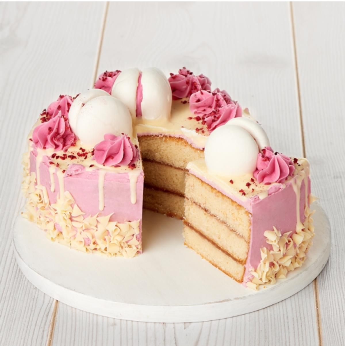 Sainsbury's raspberry dribble cake