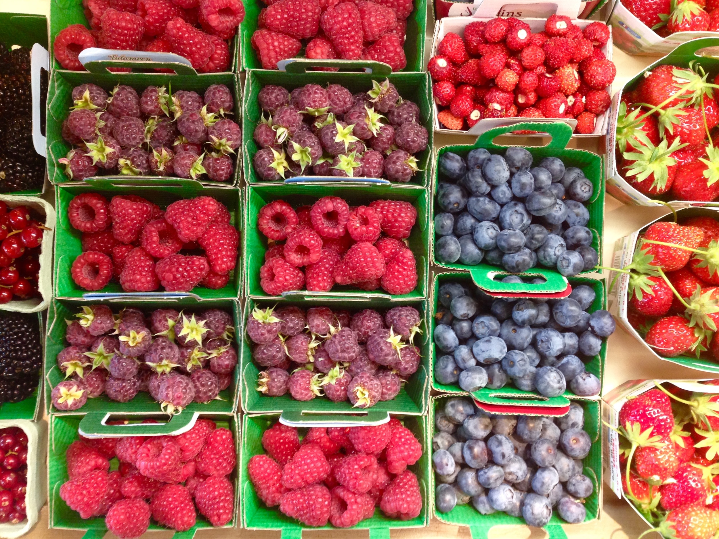 A Selection of Summer Berries at the Market