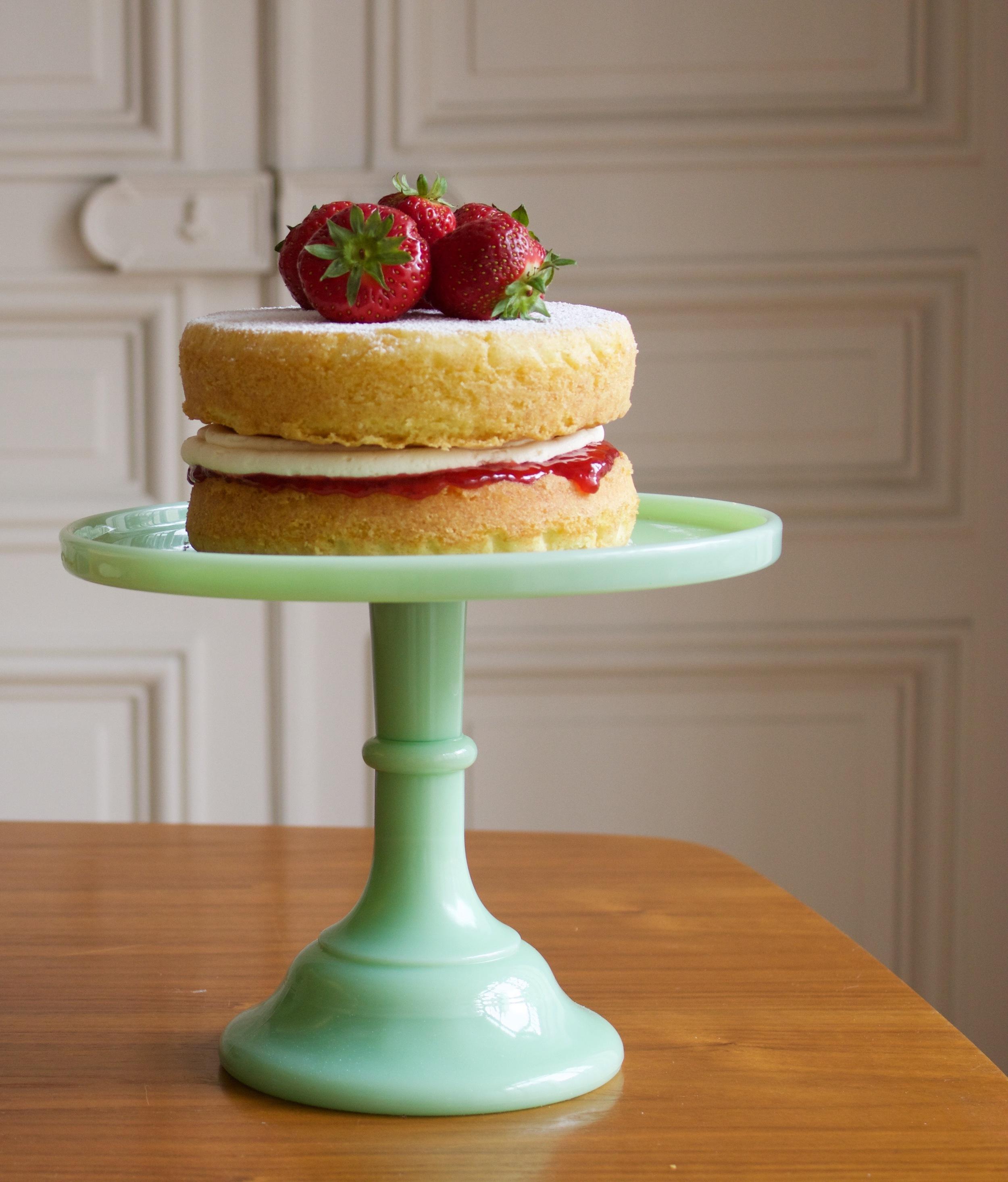 Victoria Sponge Cake with strawberry jam.
