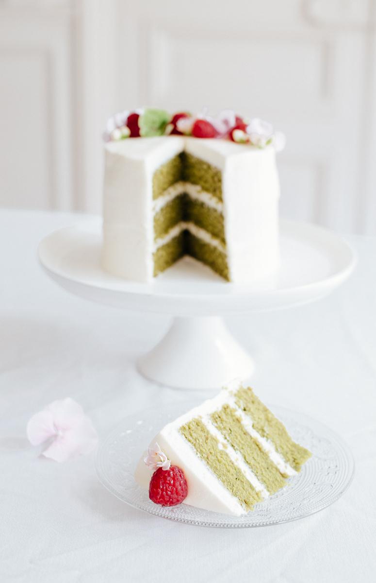 sliced cake shot