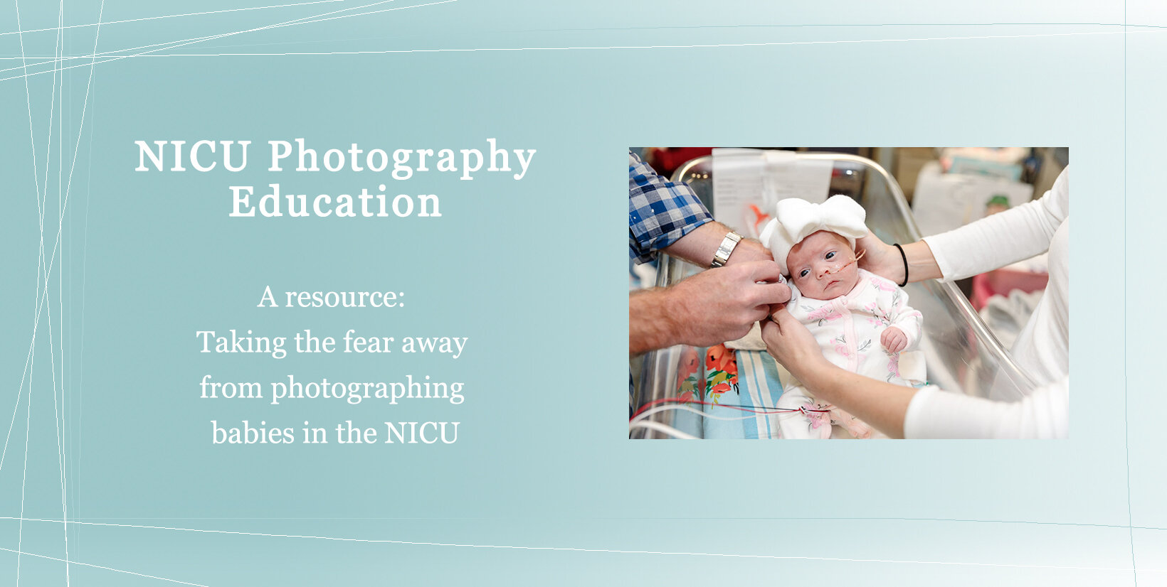 Join our private Facebook Community to learn more about photographing babies in the NICU -
