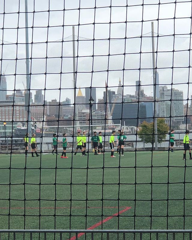 First soccer match of the season.  My son scored in the last 30 seconds.  So grateful for Hoboken's rec soccer teams and the volunteer coaches who give up their time.  This will be our final year so I'm appreciating every single moment sat on the bench.  My son's morning started with a hip hop class @mstdanceacademy because boys can love to dance and also love to play soccer!
