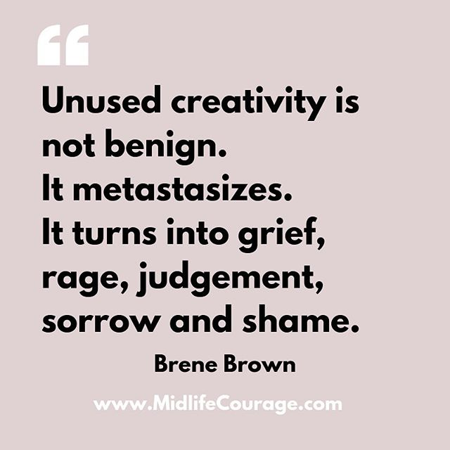 I saw this quote on the Twitter feed of @jessryanorw (who I adore!). It resonated so strongly with me.  Does it resonate with you?  What creativity is lying unused with you?  What rituals and habits could you introduce in to your life to start to tap into that creativity and to make it a part of your daily life?  #brenebrown #ourrealwork #creativity #pursueyourpassion #bigmagic #creativeliving #brenebrownquotes