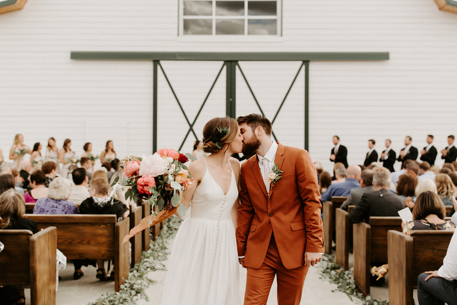 A wedding ceremony at The Butler Barn