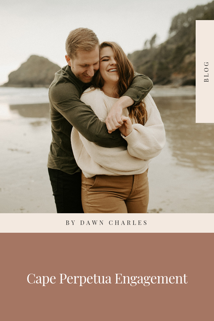 Cape Perpetua Engagement Session Oregon Coast | Dawn Charles
