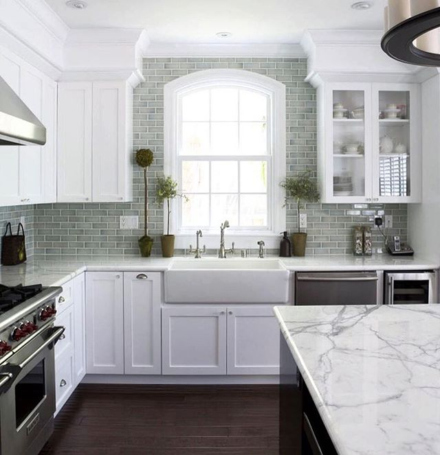 Working on a home reno & dreaming of the perfect white kitchen. What do you think?! . . . #home #Renocation #kitchen #whitekitchen #classic #homedesign #interiordesign #potterybarn #farmsink #subwaytile #MainLine #philadelphia #realestate #realtor #kellerwilliams