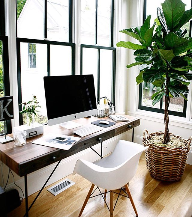 I can't believe it's only Tuesday! But things are looking up, here is some mid week #bright  #simplistic office inspiration. . . . #home #office #windows #white #wood #classic #homedesign #interiordesign #macbook #fixerupper #MainLine #philadelphia #realestate #realtor #kellerwilliams