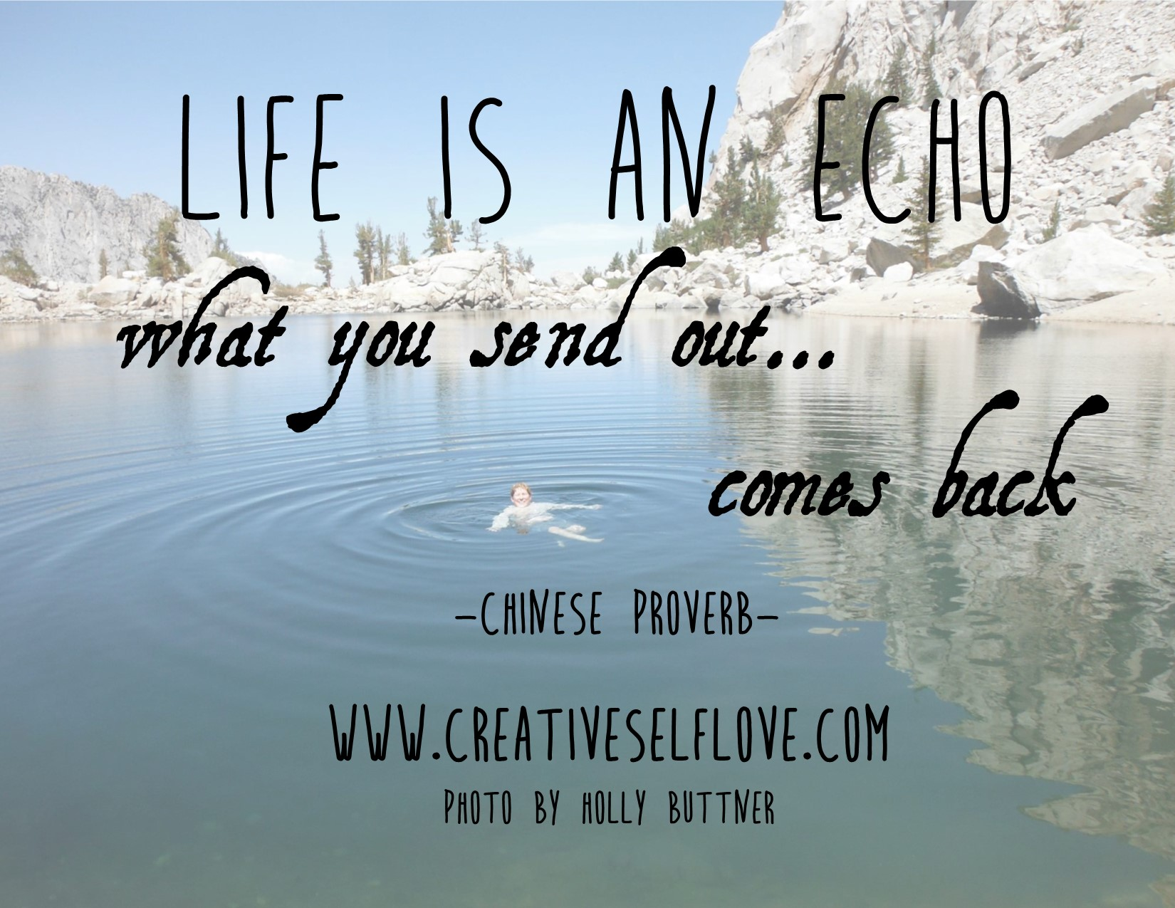 3.4 Life is An Echo – Graphics by author; photo: Holly Buttner © 2015, by permission