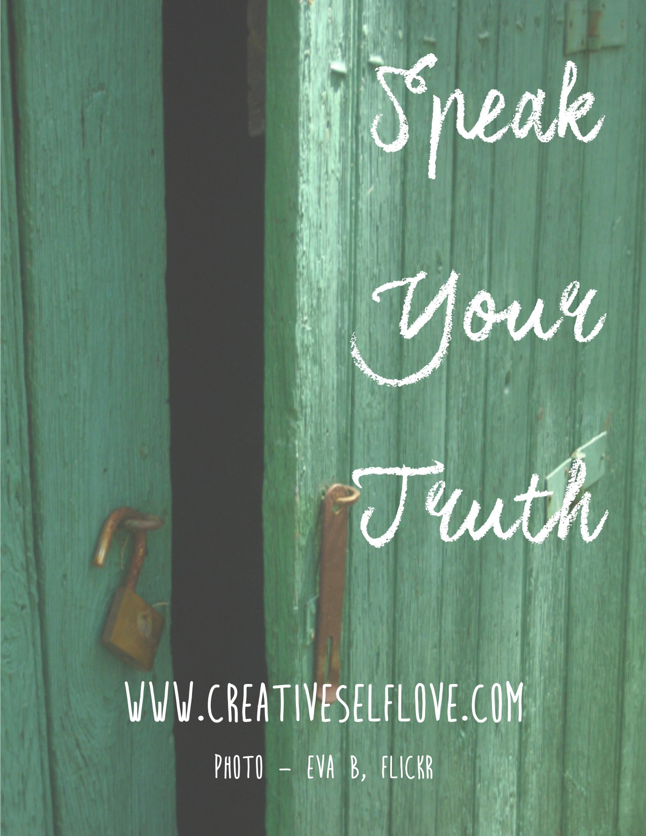 10.5 Speak Your Truth – Graphics by author; Photo: Eva B, Flickr