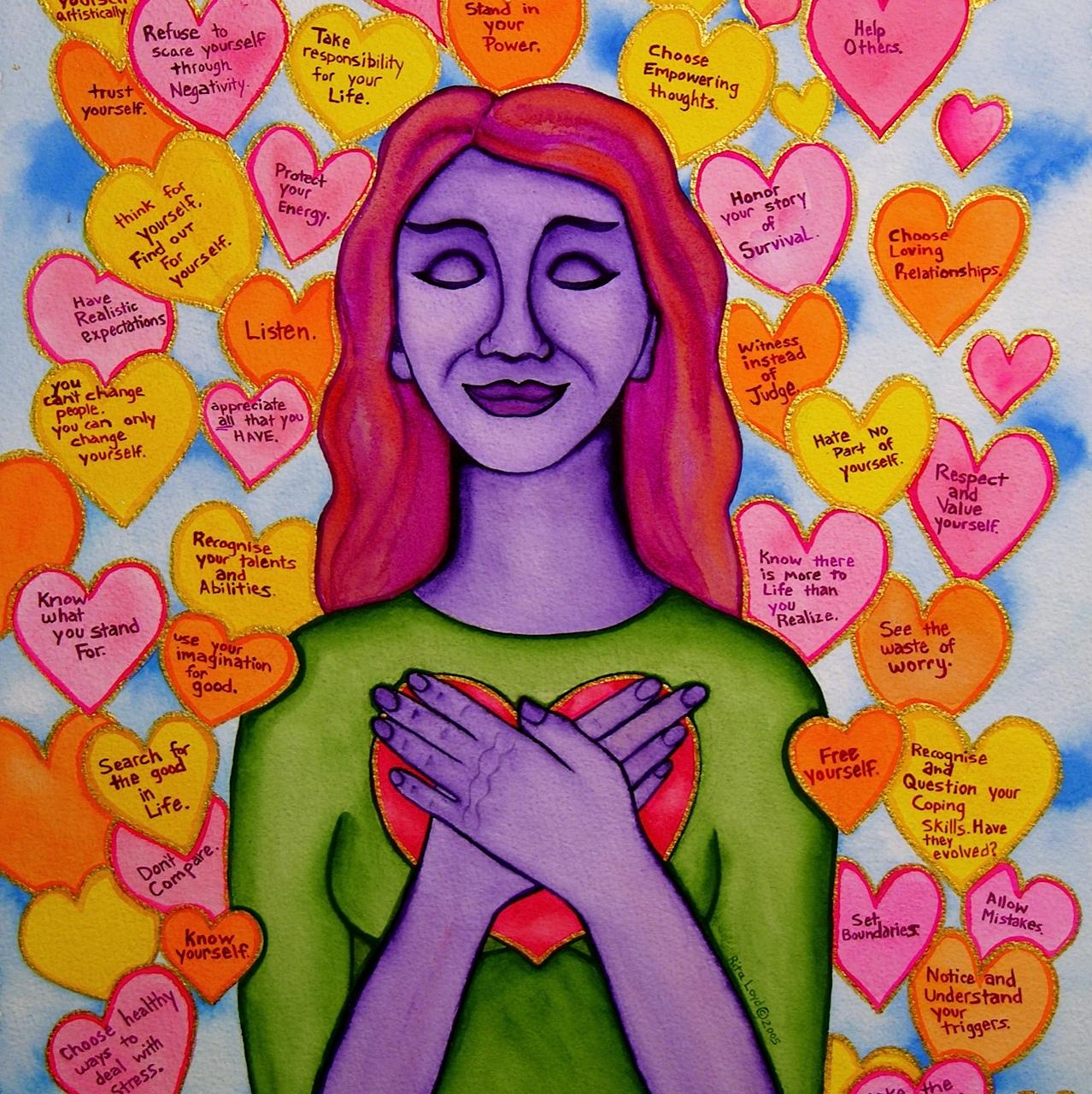 14.6 Self-Love - Rita Loyd © 2015, www.NurturingArt.com, by permission