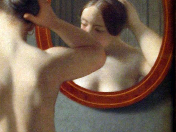 16.4 Woman in Front of a Mirror (zoom) – C. W. Eckersberg, 1841, Wikicommons