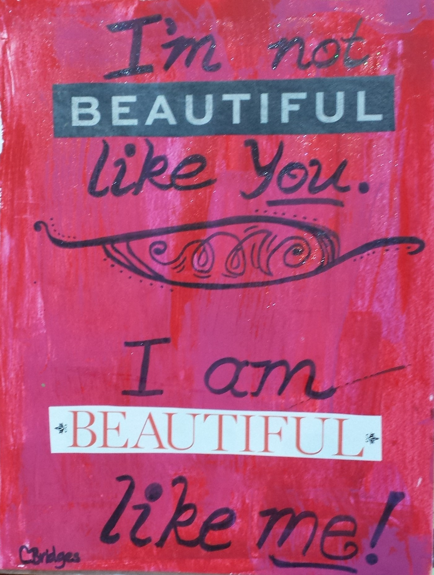 Beautiful Like Me – Artwork by author
