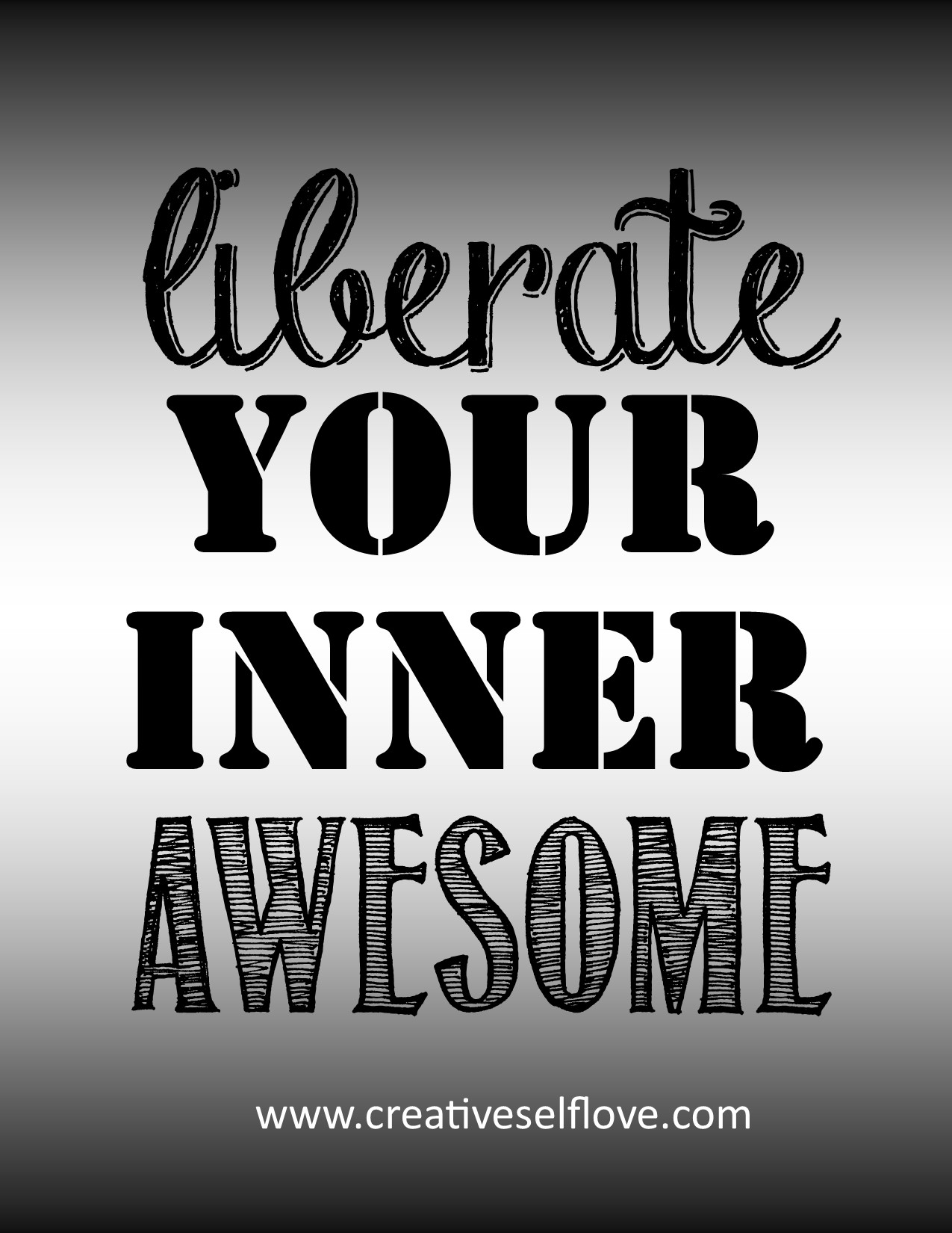 ♥	Liberate Your Inner Awesome – Graphics by author