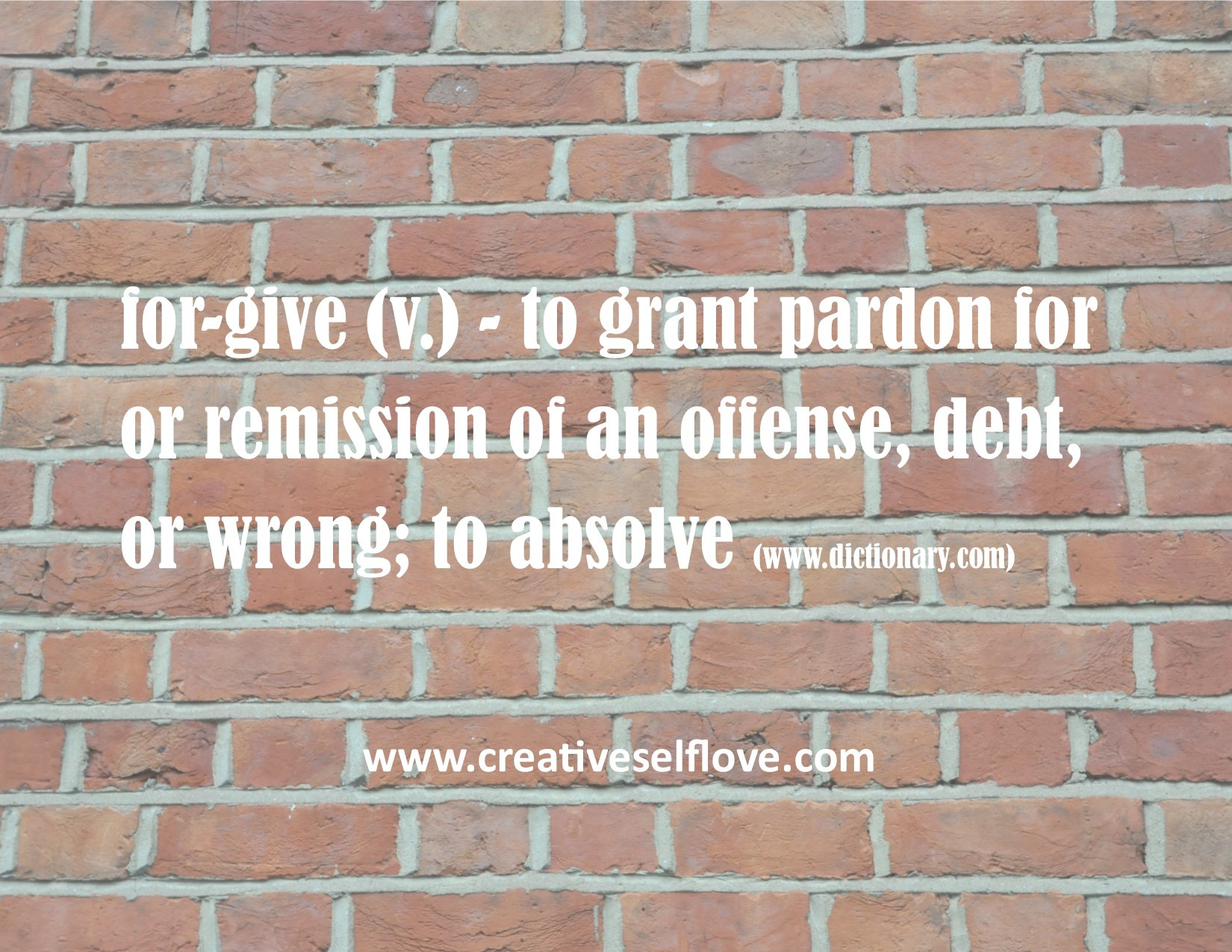 ♥Forgive – Graphics by author; Photo: public domain