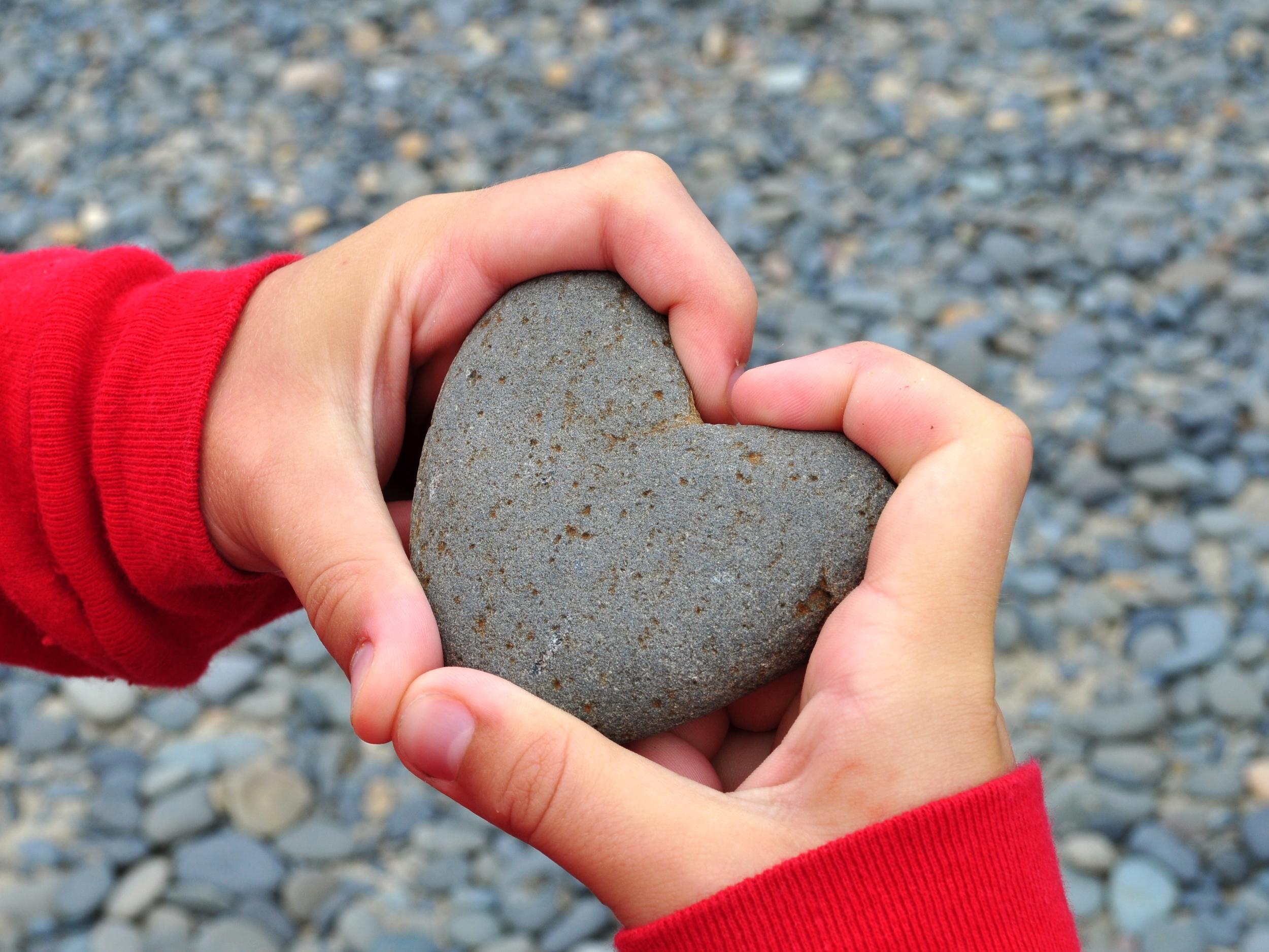 "ock Heart ""Rock in Child's Hand,"" Lisa L. Weidmeier, Flickr"
