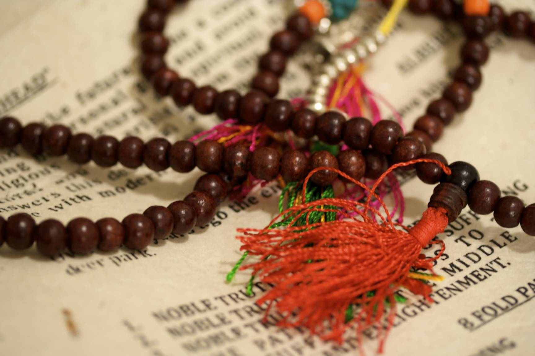 "Prayer Beads – ""Rosewood Mala and Noble Truths,"" Jess Hamilton, Flickr"
