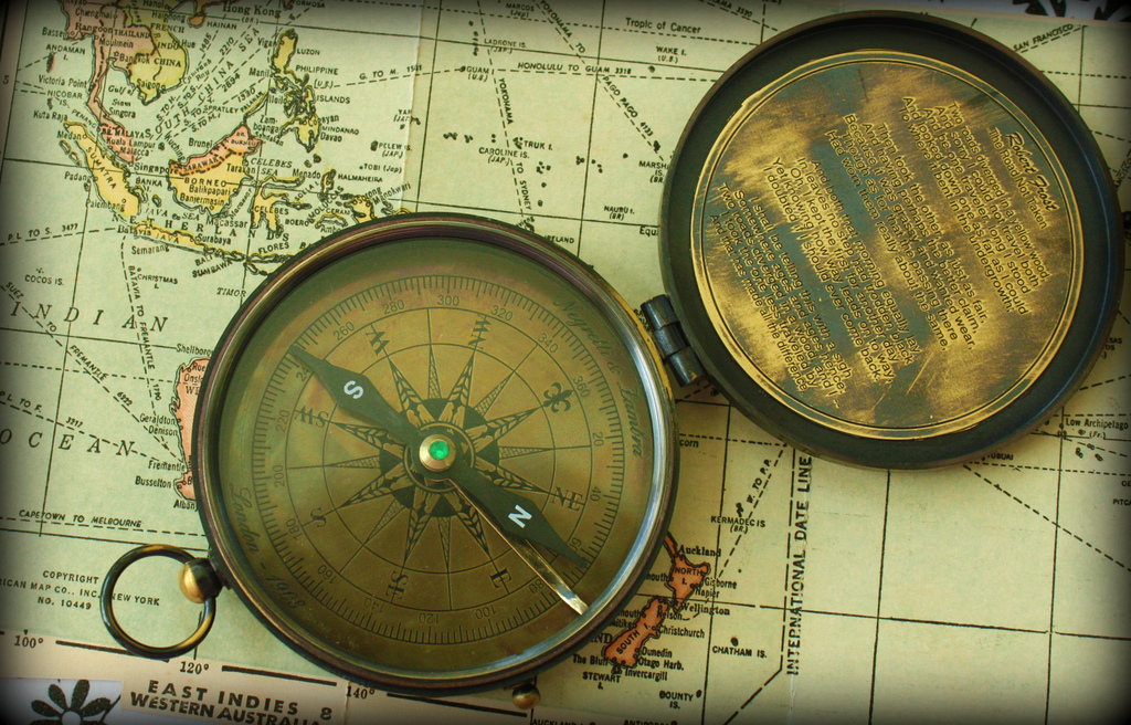 Ancient Map and Compass – Calsidyrose, Flickr