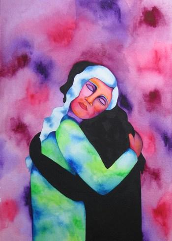 Shadow Embrace - Rita Loyd © 2015, www.NurturingArt.com, by permission