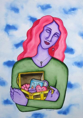 28.5 Embrace Self Love – Rita Loyd © 2015, www.NurturingArt.com, by permission
