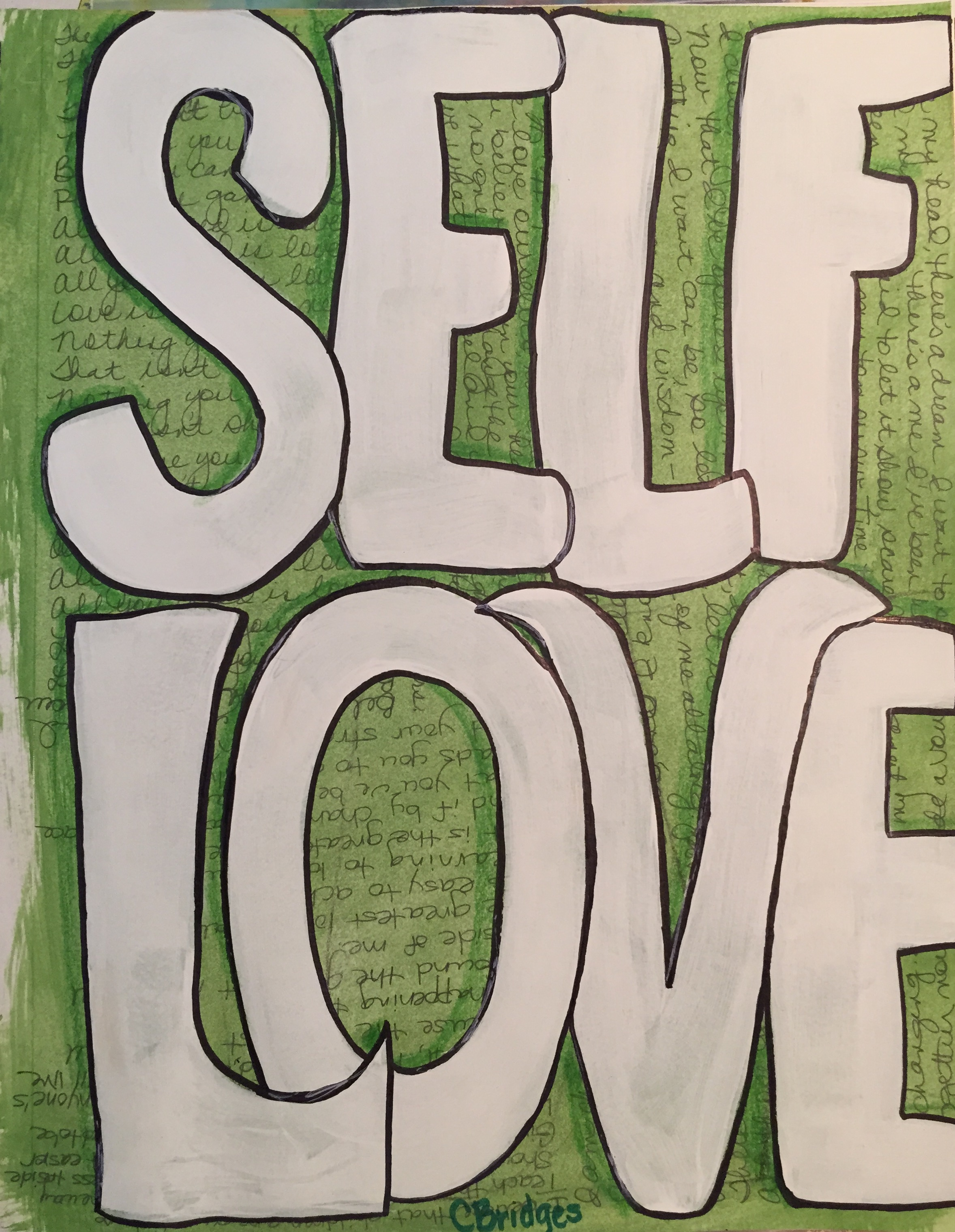 4.3 Self-Love – Artwork and photo by author
