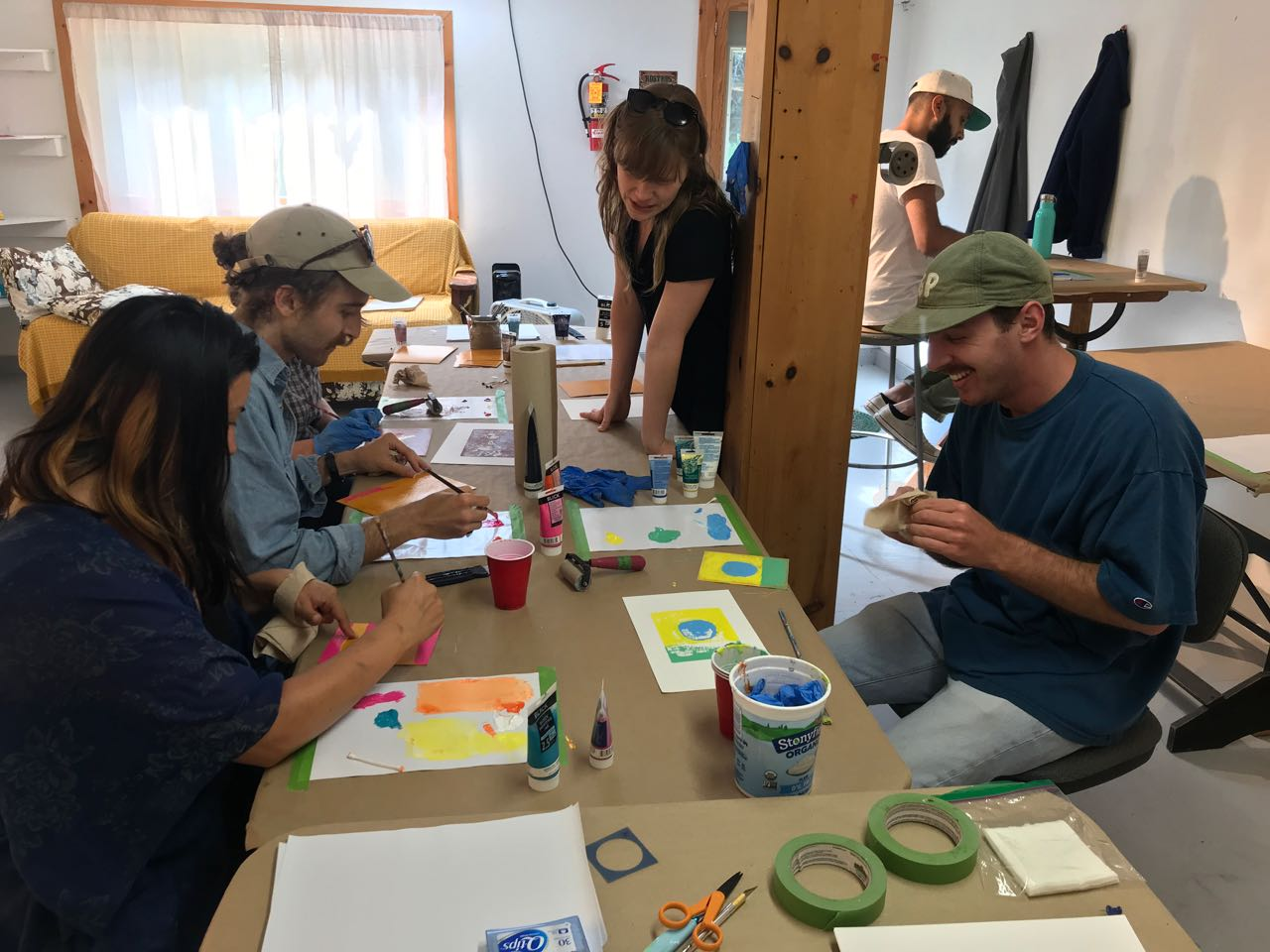 I offered a monotype workshop for the other residents one afternoon.