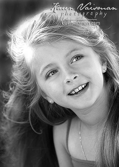 child portrait photograph karenvaisman photography black and white headshot