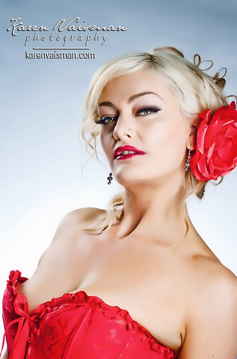 Lady in Red Portrait Can be YOURS! Agoura Hills - Karen Vaisman Photography (818) 991-7787