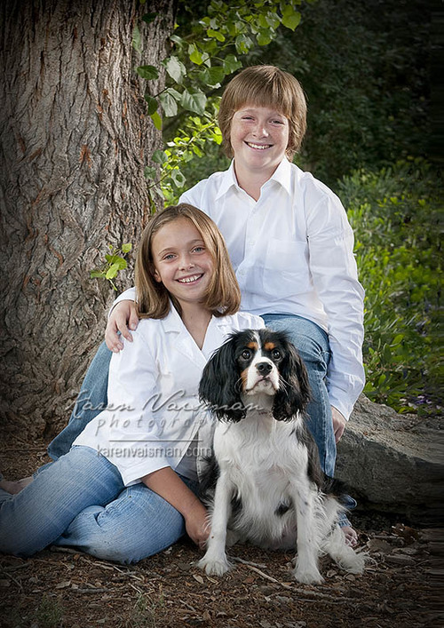 Kids & Dogs Just Go Together! (818) 991-7787 - Capture it with Karen Vaisman Photography - Agoura HIlls