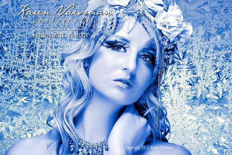 Snow Queen - Illustrative Portraits - Karen Vaisman Photography - Calabasas
