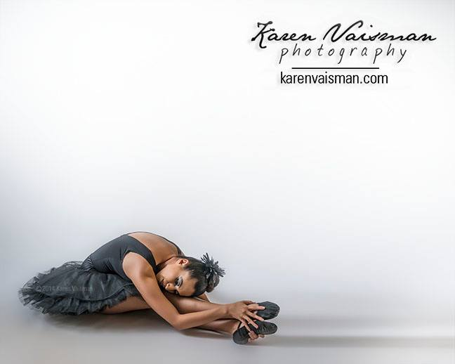 Ballet Elegance - A Quiet Moment Captured in a Portrait - Agoura Hills Photographer Karen Vaisman