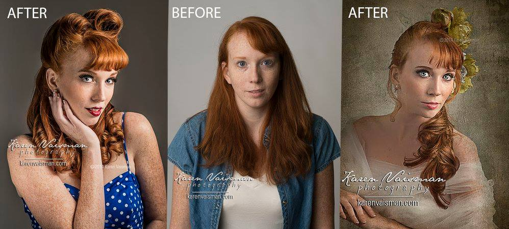 Before and After Redhead Beauty! Agoura Hills (818) 991-77878 Karen Vaisman Photography