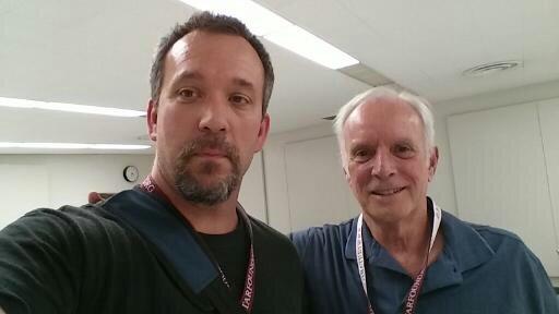 With my guitar teacher, David Grimes at GFA, Cal. St. Fullerton, 2014.