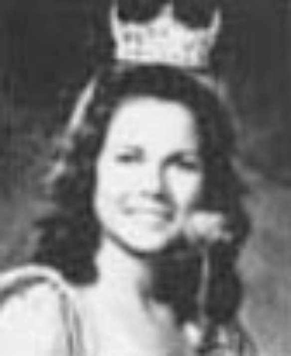 """Rochelle Bacon  Miss Idaho 1974  Hometown: Boise  Talent: Vocal """"Cornet Man"""" from Funny Girl"""