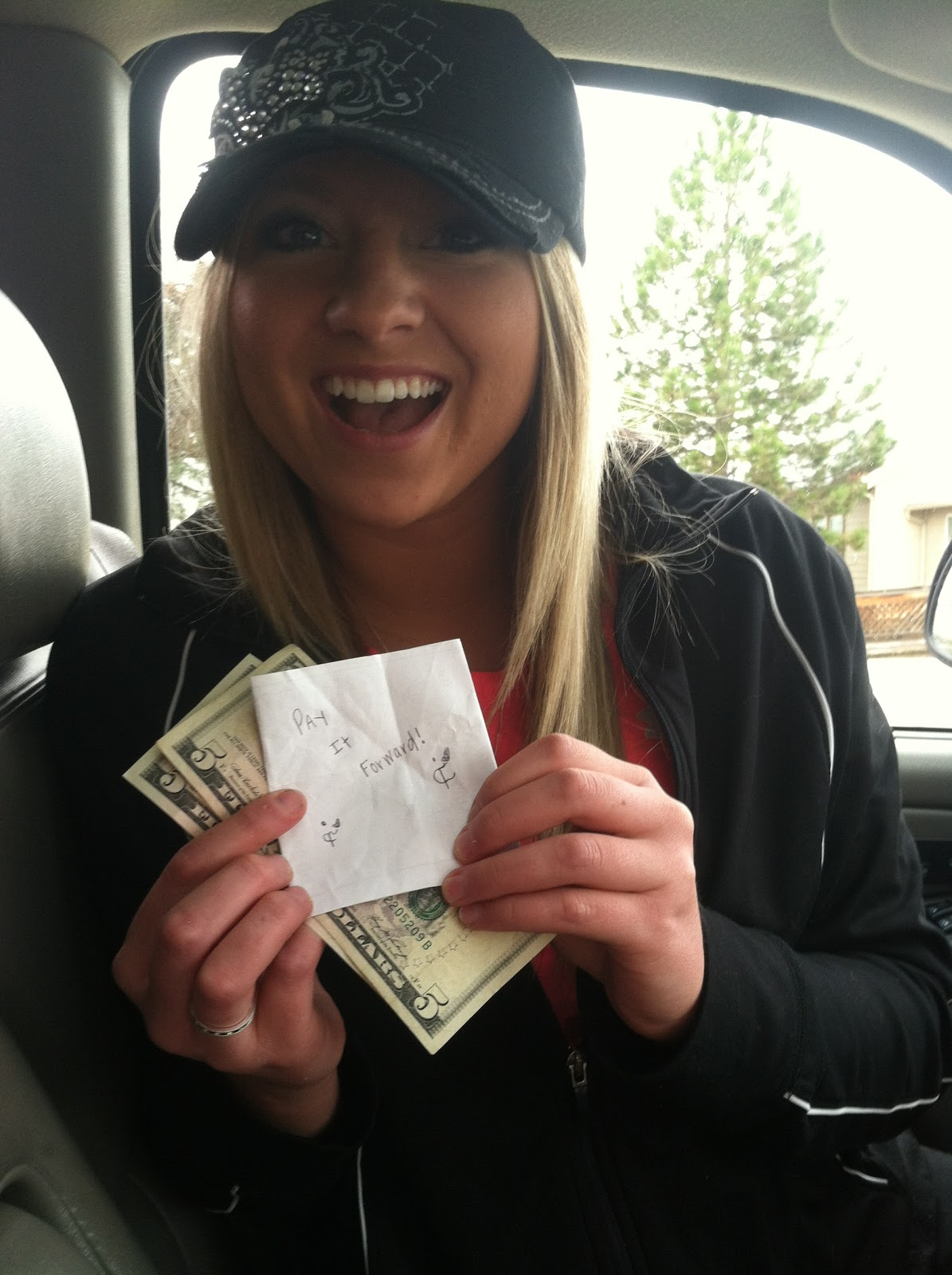 One of my Pay it Forward Friday acts. I put $10 on a random person's windshield