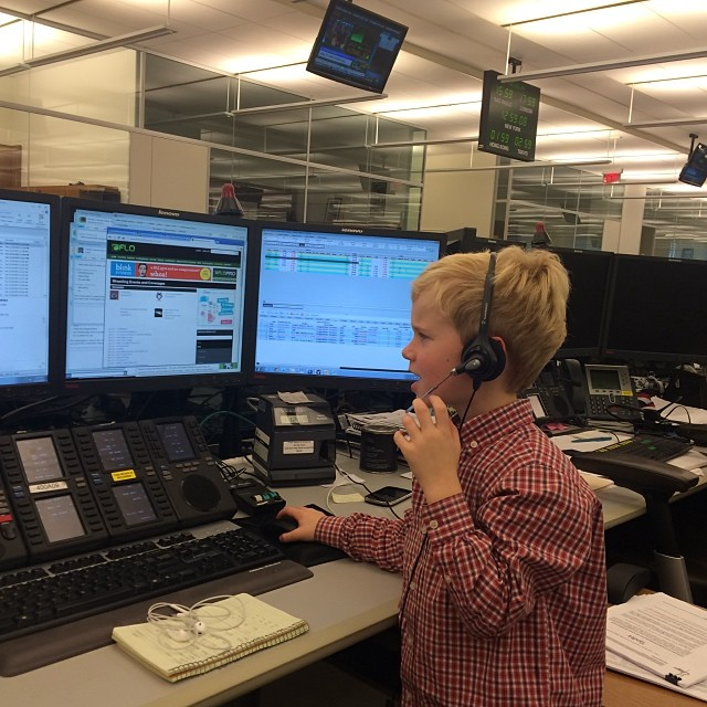 Starting Early - My boss's son at Goldman getting his SalesTrader on