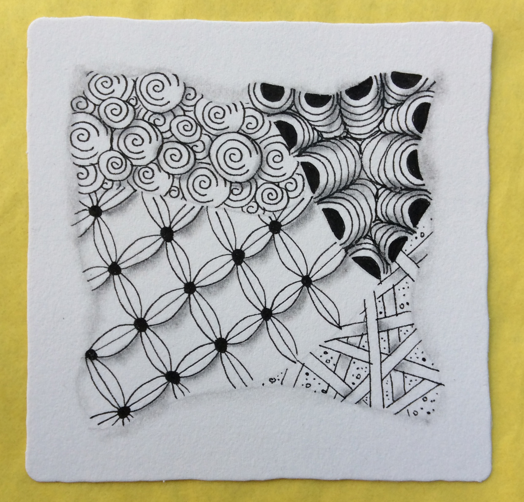 Zentangle Basics Yellow close up.jpg