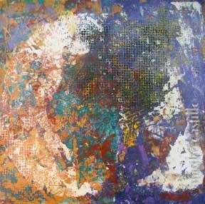 """15. Lace Iris #3  (unframed) 18""""x17"""" $450"""