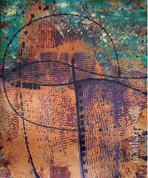 """8. Purple Mountain  (gallery wrap, unframed) 20""""x16"""" $480"""