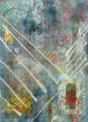 "4. Country Garden  (gallery wrap, unframed) 46""x33"" $2400"