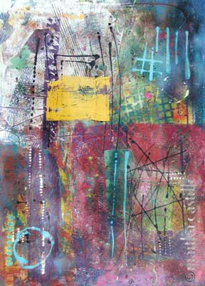 "3. City Music    46""x34""    SOLD"