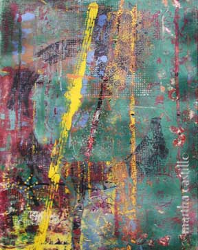"11. Vibrant Earth  (framed) 24""x18"" $840"