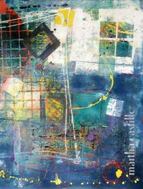 """7. Night Window  (gallery wrap, unframed) 32""""x25"""" $1200"""