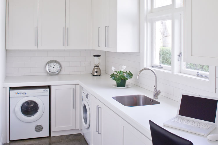 Laundry cabinetry and appliances