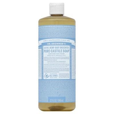 Dr. Bronner's Unscented Castille Soap