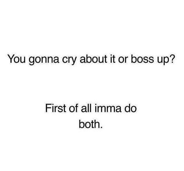 Who said you can't be a boss while crying?! 😢 ⠀ ⠀ Guess what? Crying is a completely normal and natural way of expressing your emotions. We're humans, not emotionless robots. ⠀ ⠀ A good cry can be cathartic and a safe, natural and effective way to feel your feelings for both men and women.⠀ ⠀ It's your party & you can cry if you want to. 🎶