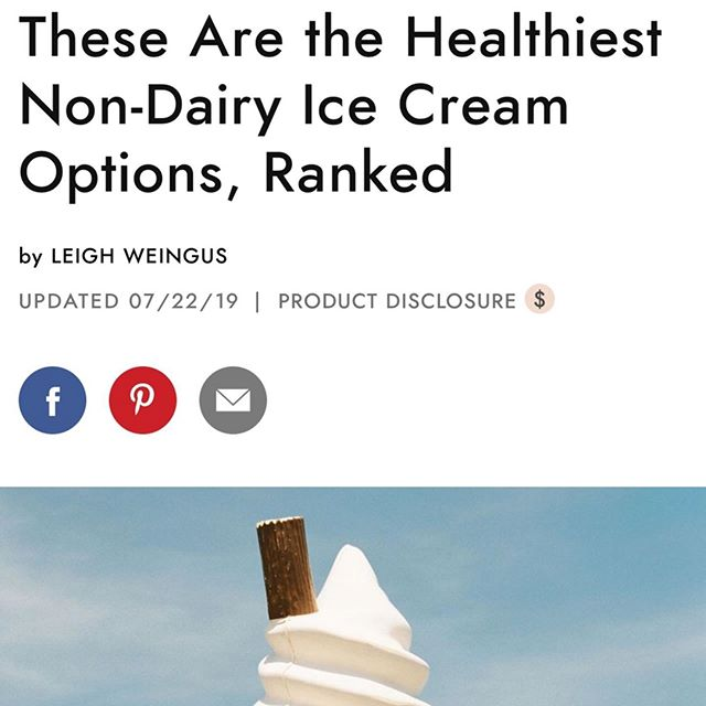 Are you dairy-free or just looking to try out a few dairy free options? I was featured in this @byrdiebeauty article written by @lleighweingus discussing the top vegan ice cream's on the market. Here's the scoop on the best and worst options out there.⁠ 🍨 ⠀ ⁠⠀ @benandjerrys It looks delicious, but the ingredients list is questionable. Soy bean oil, corn syrup, and locust bean gum to name a few. My opinion? Pass. ⁠⠀ ⁠⠀ @oatly I love their oat milk! However their vegan ice cream doesn't seem to follow the same high standards. Three different sweeteners, a made man oil and guar gum are just a few of the ingredients. ⁠⠀ ⁠⠀ @halotopcreamery One of the more known brands, it does contain protein and calcium. However it does have undisclosed ingredients and should be eaten in moderation. ⁠⠀ ⁠⠀ @coconutbliss This has a better set of ingredients and as long as you enjoy coconut, it's a delicious treat. An entire pint has 800 calories, so it's definitely one that you need to eat just a serving at a time. ⁠⠀ ⁠⠀ @vanleeuwenicecream The clear winner out of the group, this brand has both a deliciously creamy flavor and fantastic ingredients. Made with no necessary additives, this ice cream uses cane sugar, coconut cream, cashews and top notch chocolate. Fun fact, it comes from a small family-run French company that uses raw cacao from eight single biodynamic and organic plantations—no added soy lecithin either!